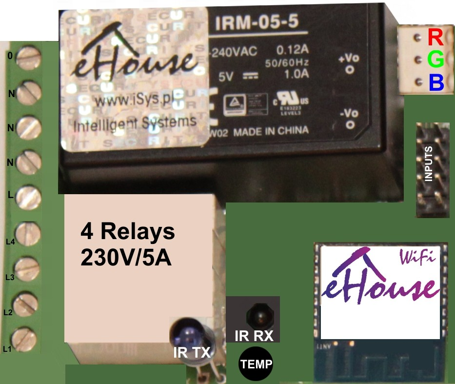 eHouse WiFi smart home controller