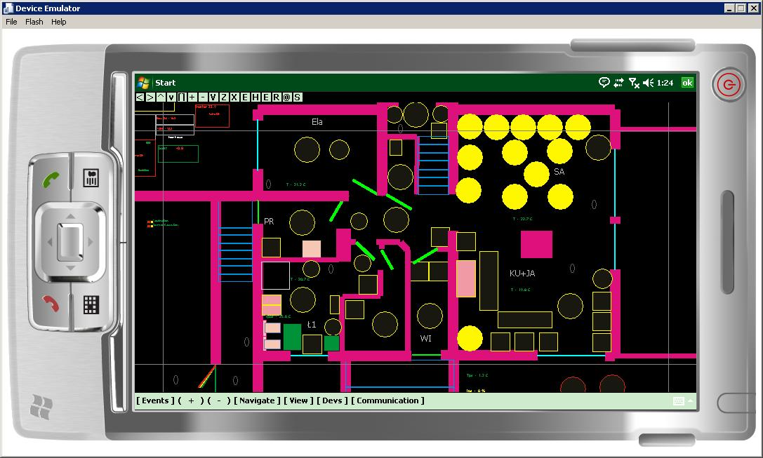 Smart House eHouse - Software Visualization and graphical control Windows Mobile , Windows Phone , .NET Open Source