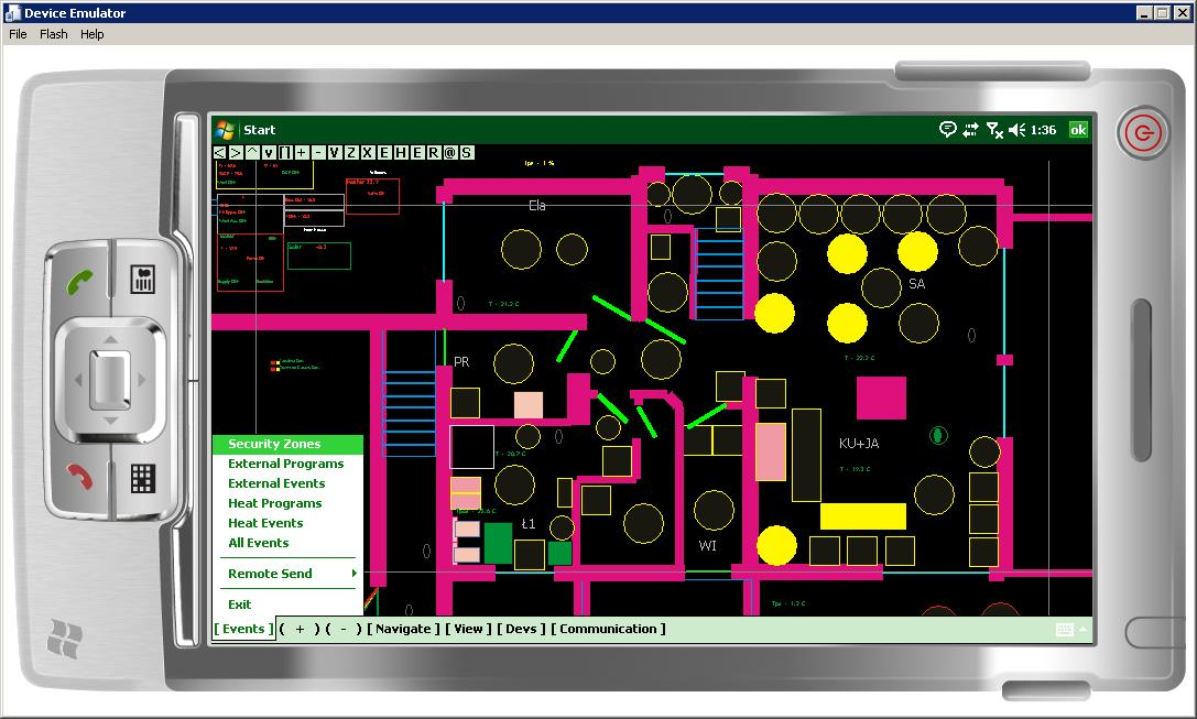 Smart House eHouse - Software Visualization and graphical control Windows Mobile , Windows Phone , . NET Open Source