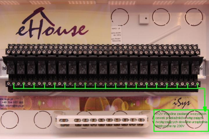 Smart House eHouse - power connection relays
