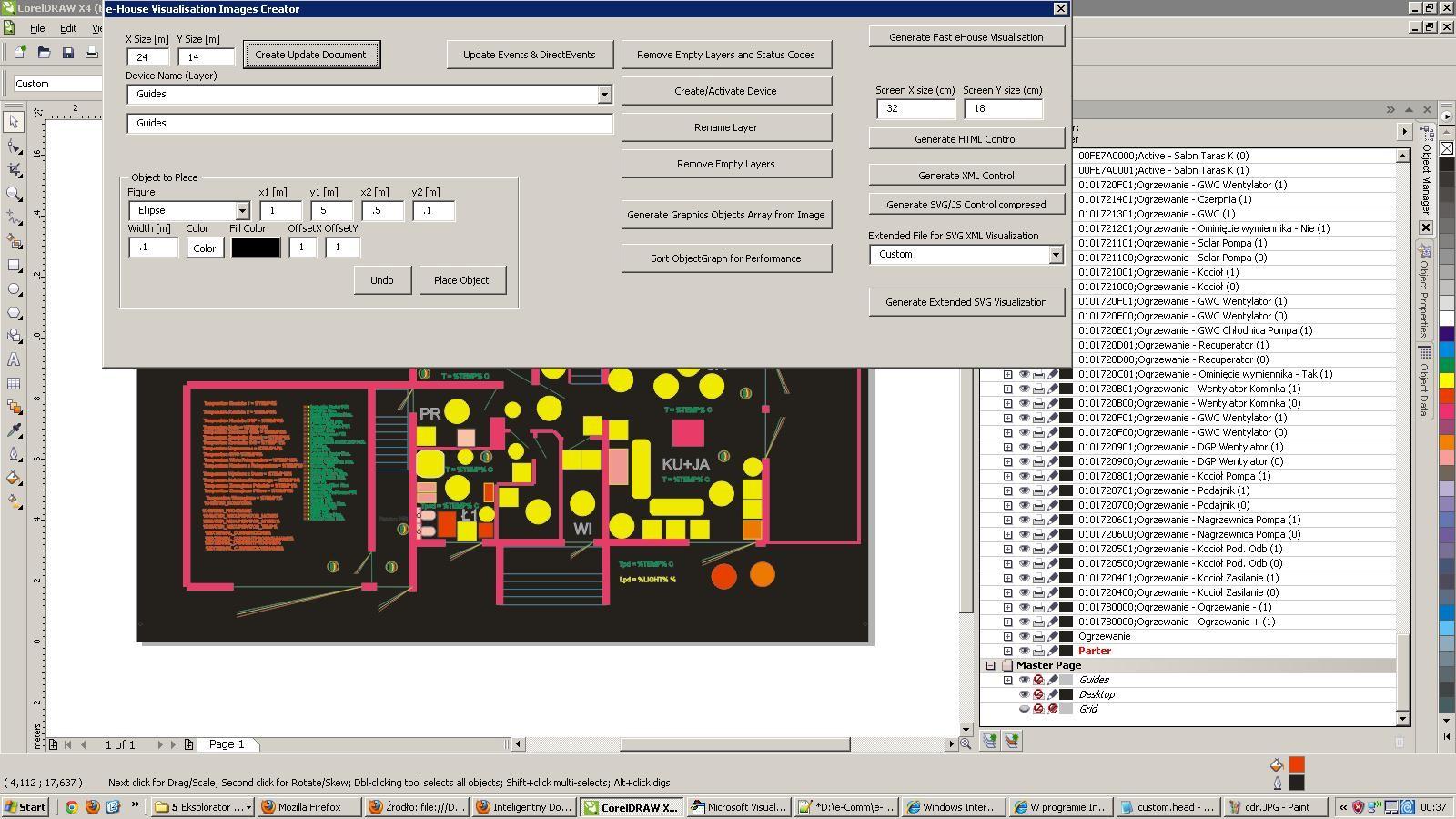 Inteligentny Dom eHouse Tworzenie wizualizacji w aplikacji CorelDraw