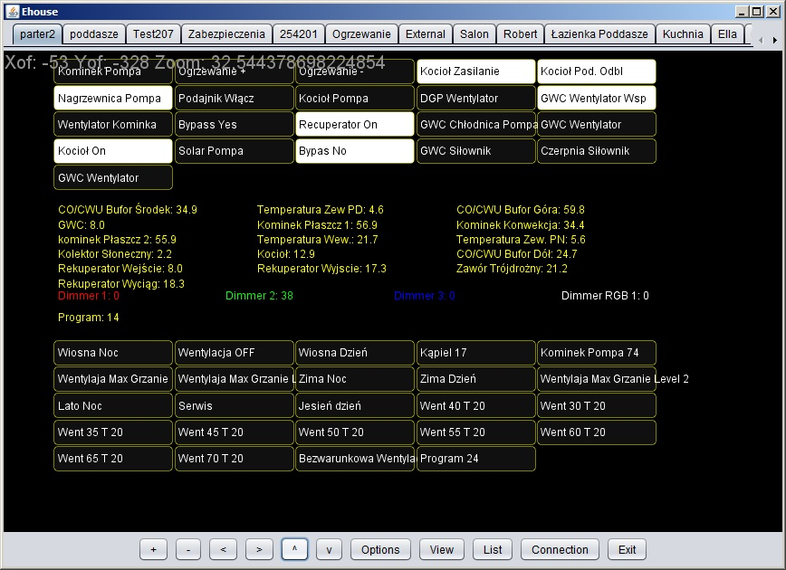 Intelligent home control eHouse graphics and visualization automatic online - java open source