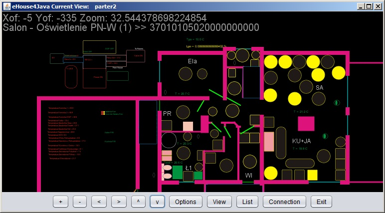 Intelligent home control eHouse online graphics and visualization - java open source