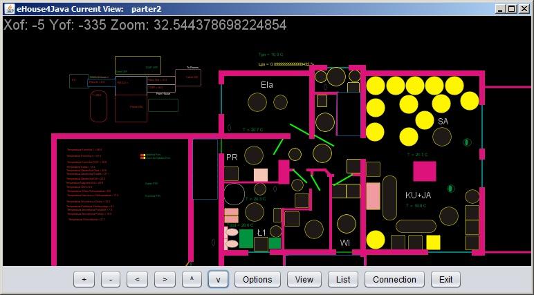 Intelligent ehouse maison de contrôle et de visualisation graphique en ligne - java open source