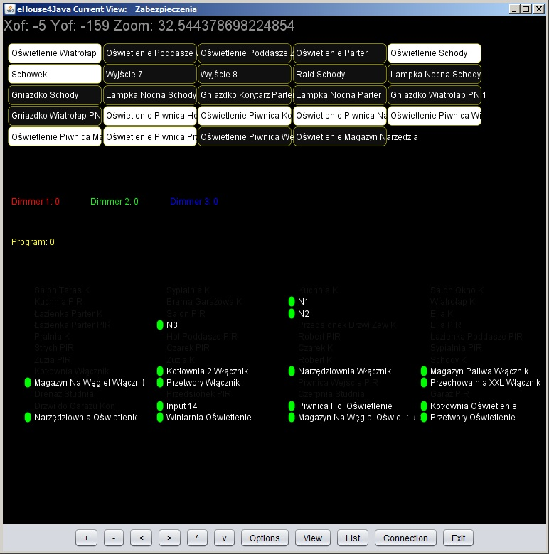 Intelligent Home Control ehouse graphiques et de visualisation automatique en ligne - java open source