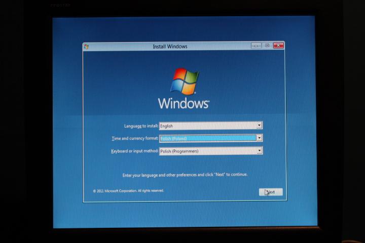 instalacja windows 8